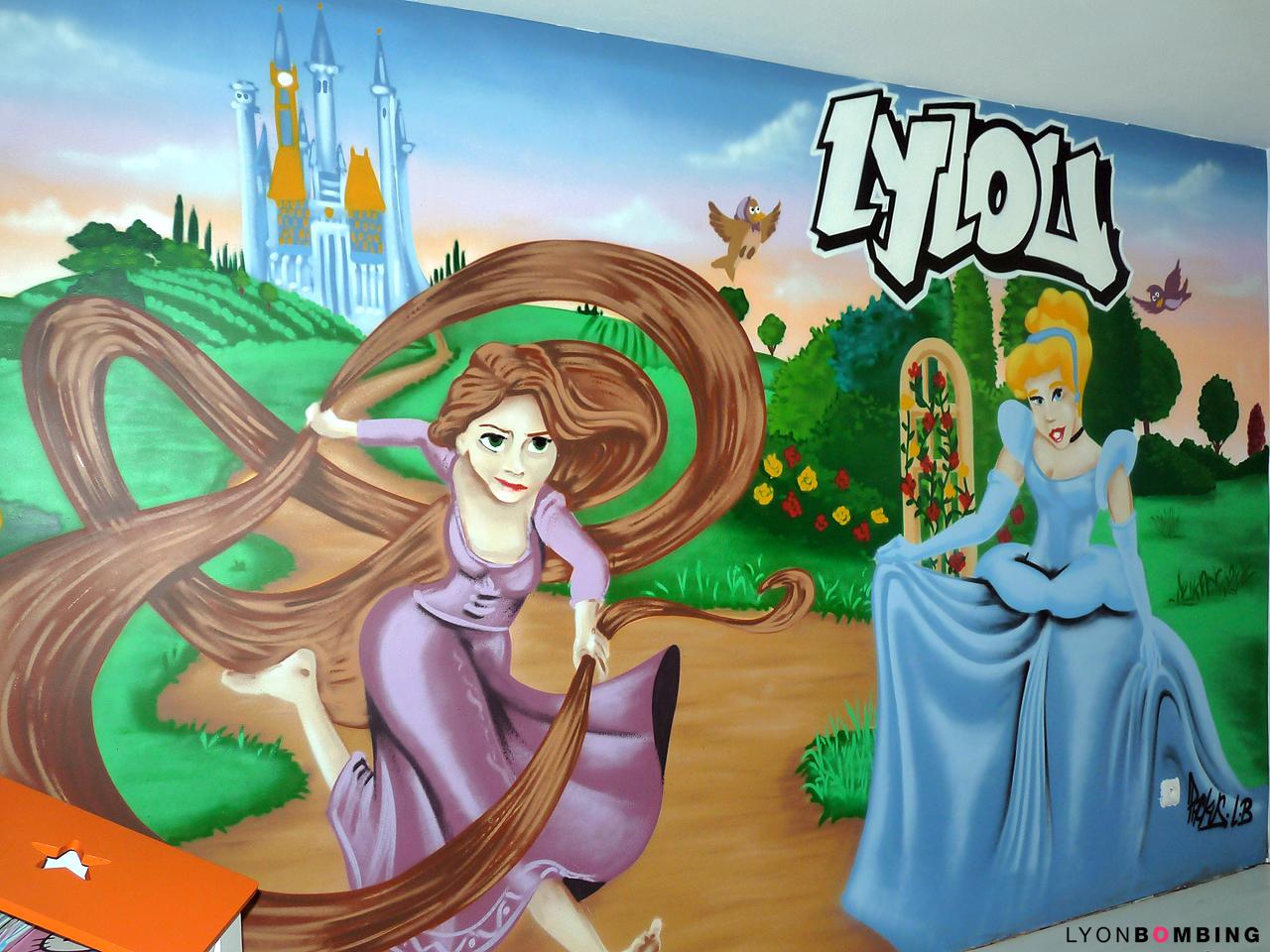 Déco chambre princesse raiponce