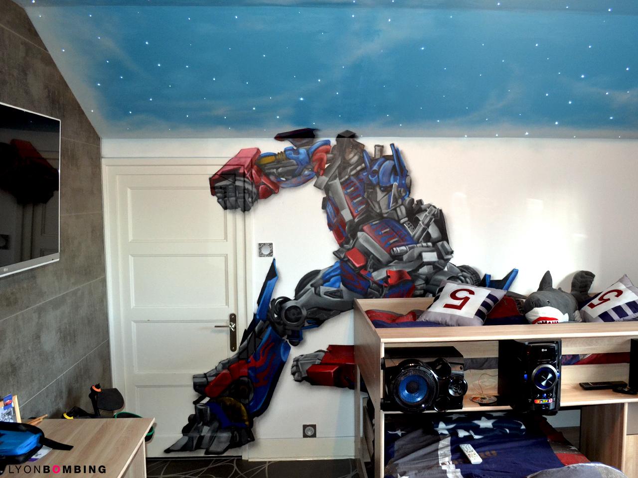 décoration chambre transformers