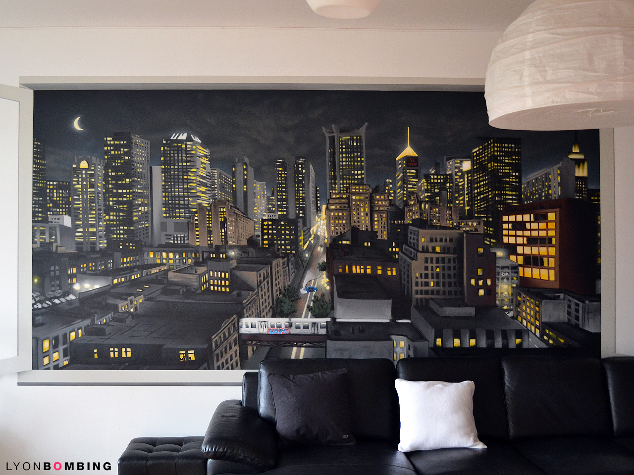 Vue urbaine en trompe l oeil int rieur lyonbombing for Decoration voyage
