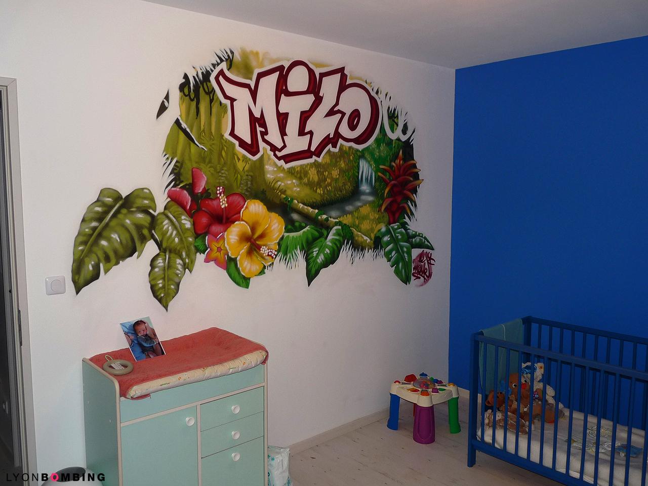 Chambre Petite Fille Oiseau : Chambre jungle  Chambre  LYONBOMBING