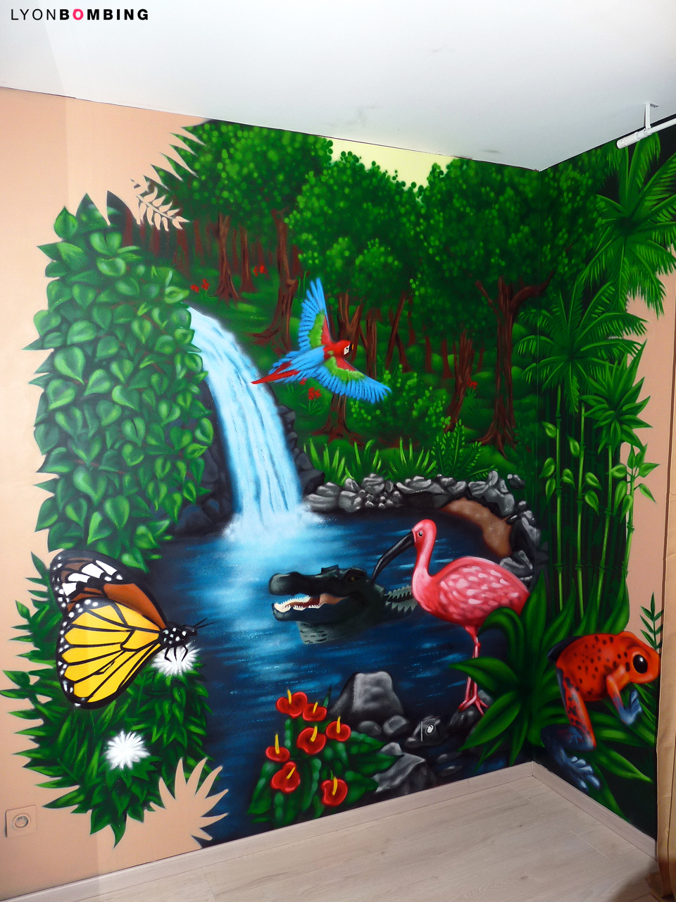 Chambre jungle chambre lyonbombing - Chambre jungle enfant ...