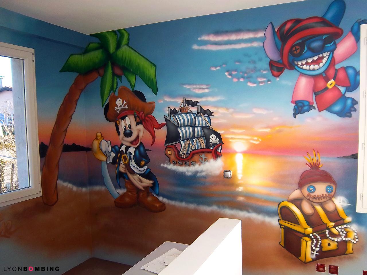 Chambre Pirate Mickey Stitch Chambre Lyonbombing