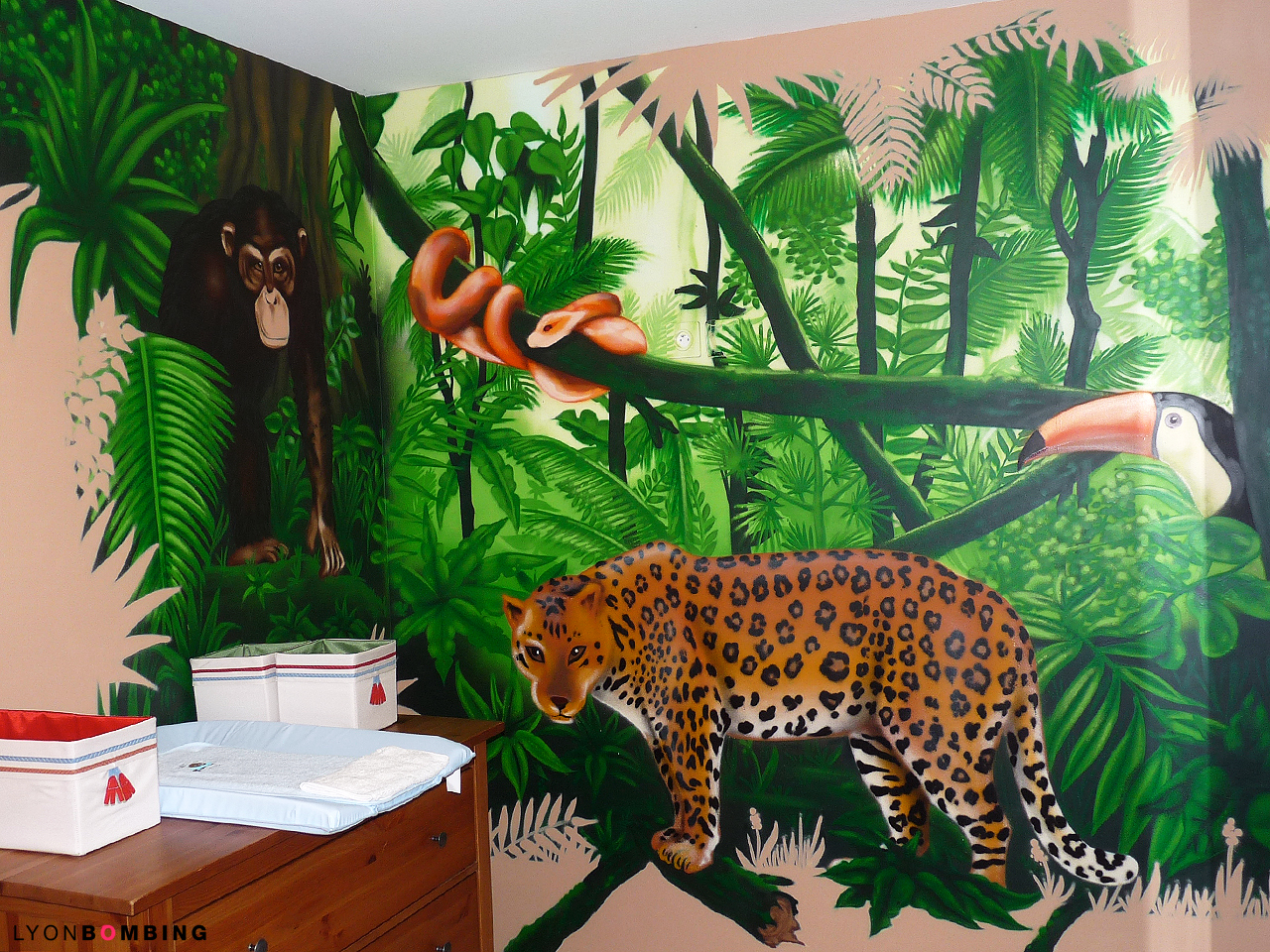 Chambre jungle for Decoration chambre jungle