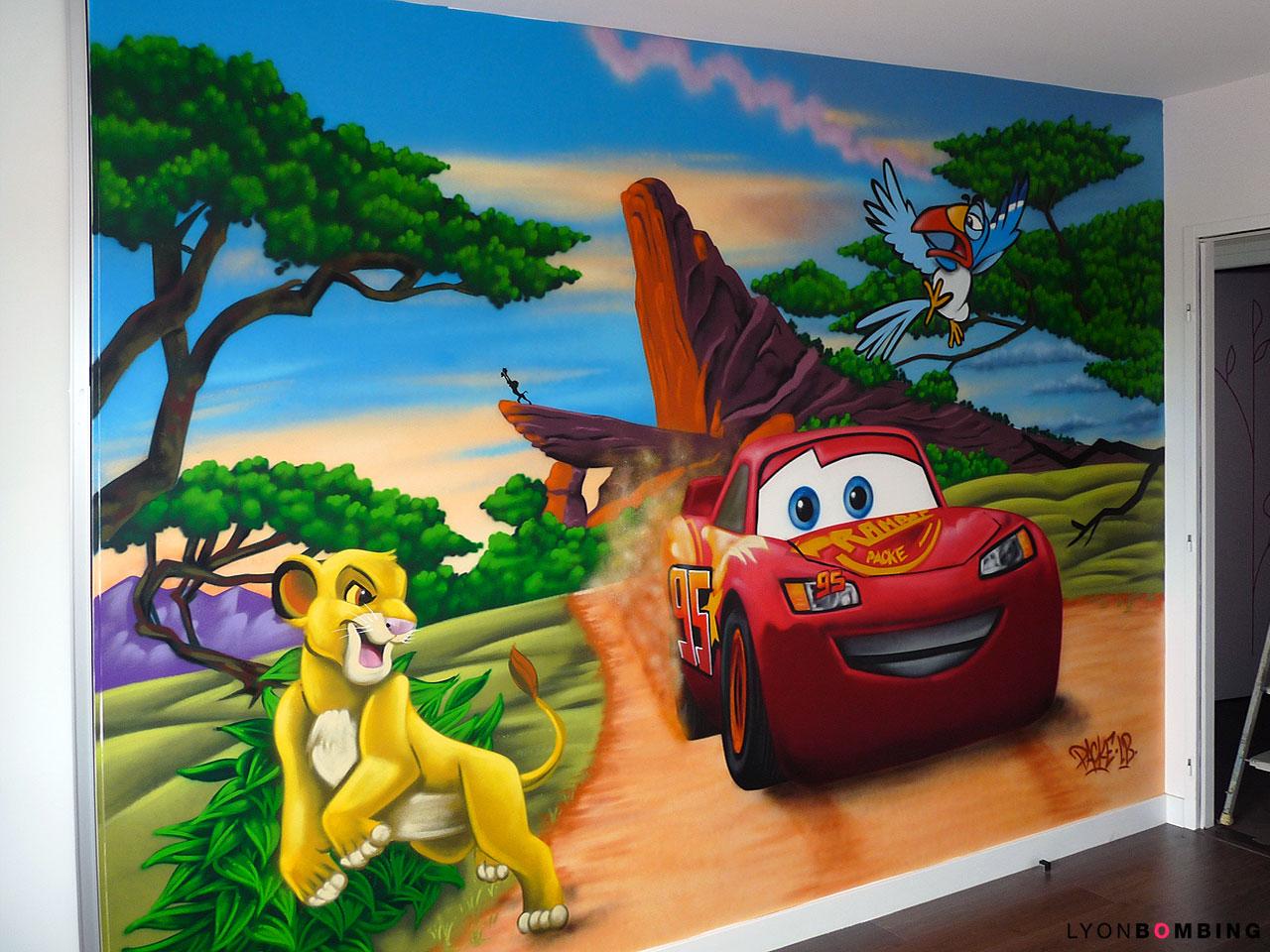 Chambre Cars VS Le Roi Lion  Chambre  LYONBOMBING